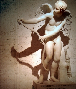 Amor stringing his bow, Roman copy after Greek original by Lysippos, ca. 2nd century AD
