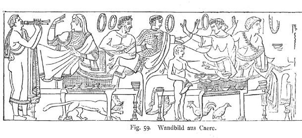 A cat on an Etruscan fresco. Otto Keller, Die Antike Tierwelt (Vol. 1), p.169